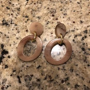 Madewell Blush Pink Tortoise Drop Earrings Lucite